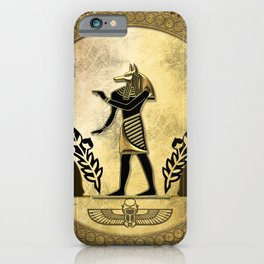 Anubis the egyptian god iPhone Case
