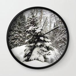 Carol M Highsmith - Snowy Pine Trees Wall Clock