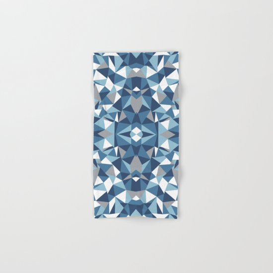 Abstract Collide Blues Hand & Bath Towel