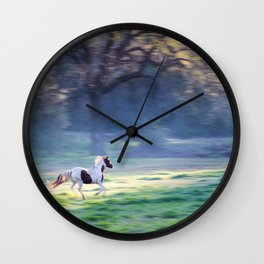Chasing The Morning Light Wall Clock
