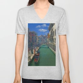 Venice Canal Ultra HD Unisex V-Neck