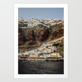 Oia Santorini  Art Print