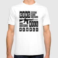 Guns Don't Kill People People Kill People Mens Fitted Tee SMALL White
