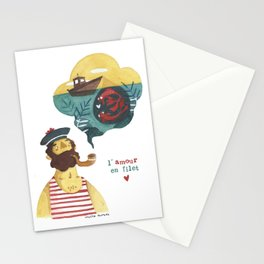 Love in a net Stationery Cards