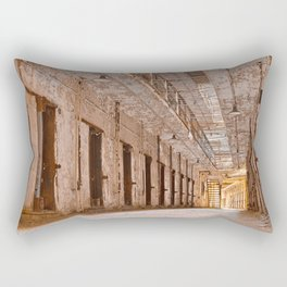 Glowing Prison Corridor Rectangular Pillow