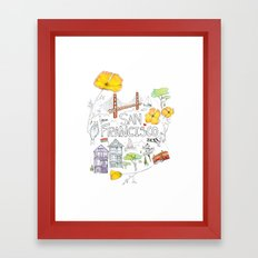 Friends + Neighbors : San Francisco Framed Art Print