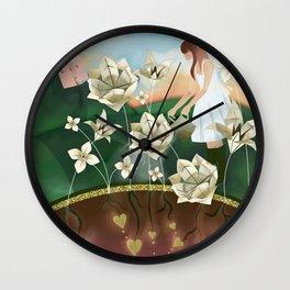 Origami Garden Wall Clock
