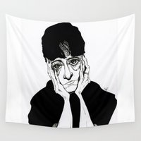 dorothy Wall Tapestries featuring Dorothy Parker by Simone Bellenoit : Art & Illustration