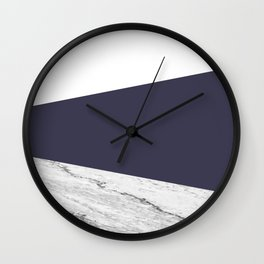 Marble Eclipse blue Geometry Wall Clock
