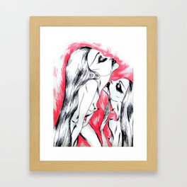 Nymphettes Coquettes Framed Art Print