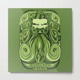 Bodacious Beard - Green Metal Print