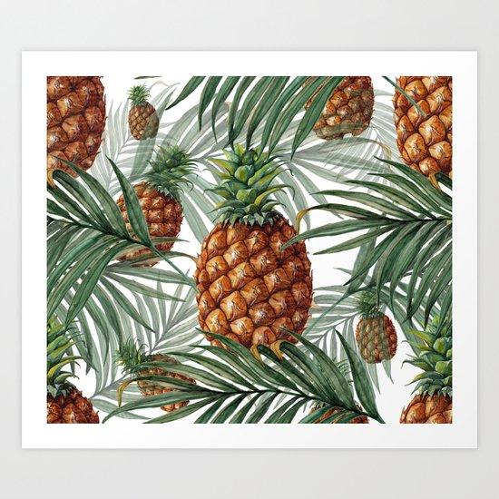 King Pineapple Art Print