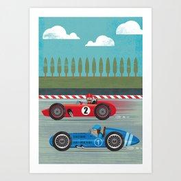 Retro Racing Art Print