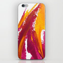 Wings Collection orange/pink iPhone Skin