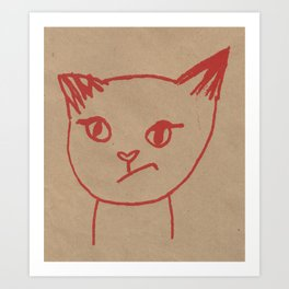 Cranky Kitty by Brit Hunter Art Print