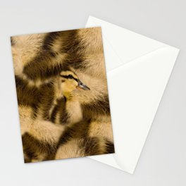 Easter Duckling in camouflage Stationery Cards