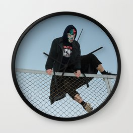 Hopping Fences Wall Clock