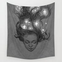 constellations Wall Tapestries featuring Constellations by Antonio Caparo
