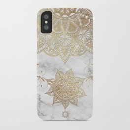 Mandala - Golden drop iPhone Case
