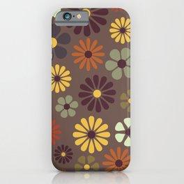 Flower Power Retro Hippy Flowers iPhone Case