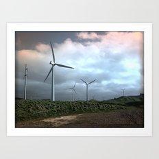 Mighty wind Art Print