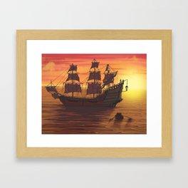 Queen Anne's Revenge Framed Art Print