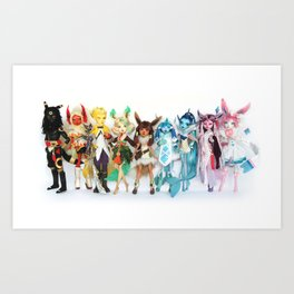 Eeveelution Dolls Art Print
