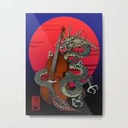 Dragon Contrabass Metal Print