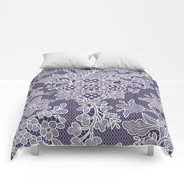 Lilies. Seamless Pattern. Lace. Comforters