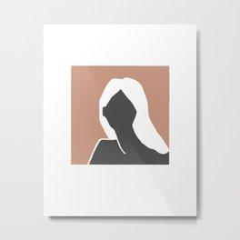 Bohemian terracotta woman portrait Metal Print