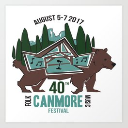 Canmore Folk Festival 40th Anniversary Art Print