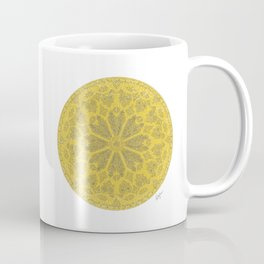 Ultimate Gray and Illuminating Yellow Rose Window Coffee Mug