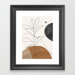 Abstract Art /Minimal Plant Framed Art Print