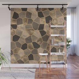 Mosaic Pattern - Golds #2 Wall Mural