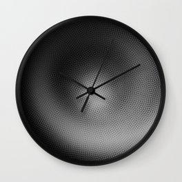 B&W Particle Spiral Wall Clock