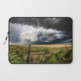 Aquamarine - Storm Over Colorado Plains Laptop Sleeve