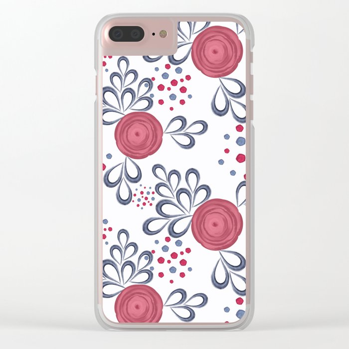 Floral pattern. Clear iPhone Case