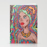 african Stationery Cards featuring African by havana