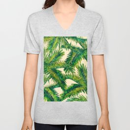 Palms #palm #palms #flower Unisex V-Neck