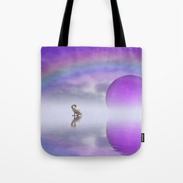 when the moon touched earth -14- Tote Bag