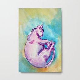 Watercolor Cat Metal Print