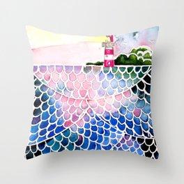 Sea at sunset Throw Pillow