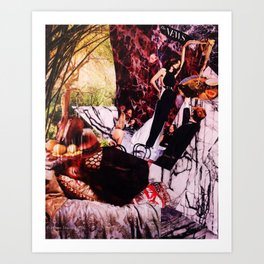 The News is Always on My Back About Nonsense But I Want a New Zealand Rosemary Lamb Shank, too Art Print