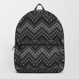 Black-white zigzag denim photocollage+ Backpack
