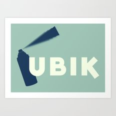 Ubik by Philip K Dick Art Print