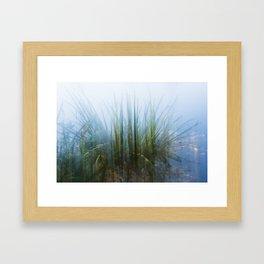 Green Explosion Framed Art Print