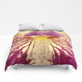Antiqued Iris Bloom - Floral Nature Photography - Flowers Comforters