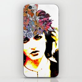 Her Blue Hat iPhone Skin