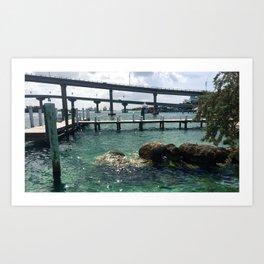 Dockin' at Sea Art Print