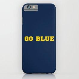 Go Blue iPhone Case